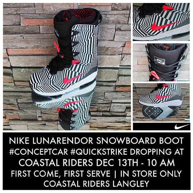 Tomorrow. 10 am. The @nikesnowboarding #LunorEndor #conceptcar #quickstrike. #nikesb #nikesboarding #sneakers limited supply.