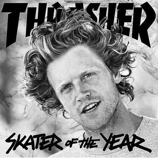 Congrats to #WesKremer for taking the @thrashermag #SOTY. Dude earned it. @sk8mafia #sk8mafia #thrasher