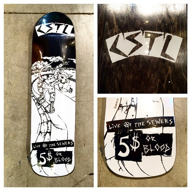 Very limited #reissue. Art by @surreydagger #cruzer #skaterat graphic. #cstl #CoastalRiders #SurreyStu
