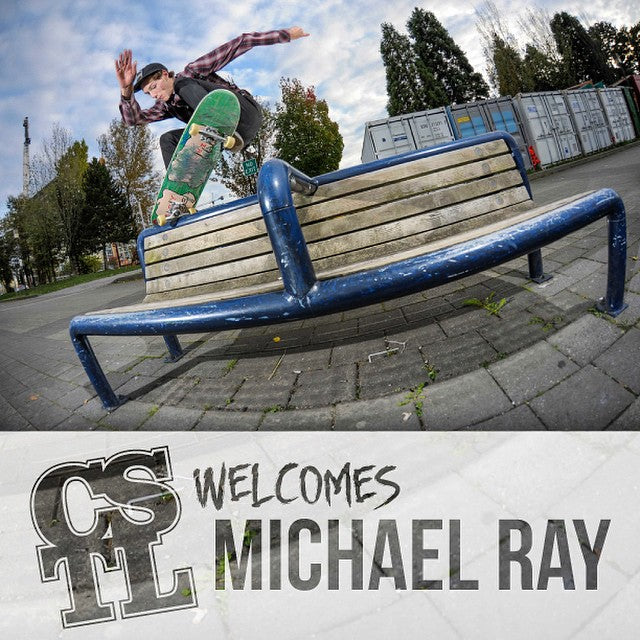 Incase you missed it yesterday, we welcomed #MichaelRay aka @fuckimsorry to the #cstl family. Click the link in our bio to watch his welcome video edited by @davidstevens @stillrollin2. Photo by @antoshcimoszko.