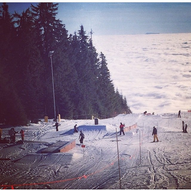 The view up @grousemountain right now. The park looks real fun. #regram