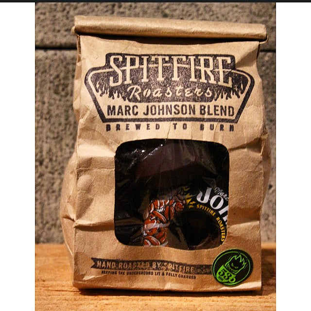 Come get a fresh roasted bag of @marcjohnson @spitfirewheels. They will get you Rollin in the morning.