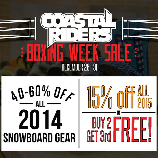 The party continues at the shop - boxing week deals are on until Wednesday, get geared up - snow's coming. #boxingweek #snowboardsale #snowboarding #cstl #cstlwinter