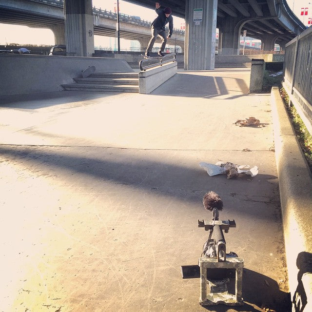 @fuckimsorry and @davidstevens working on some visuals for your viewing pleasure! #skateboarding #vancouver