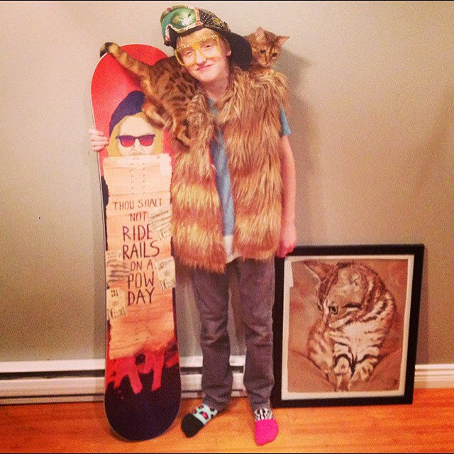 Shout out to big Owen who won the @dc_snowboarding contest and won himself a new #PBJ. As you can see Owens kit is on point. Congrats Owen. #catman @miamihighco #cstlwinter