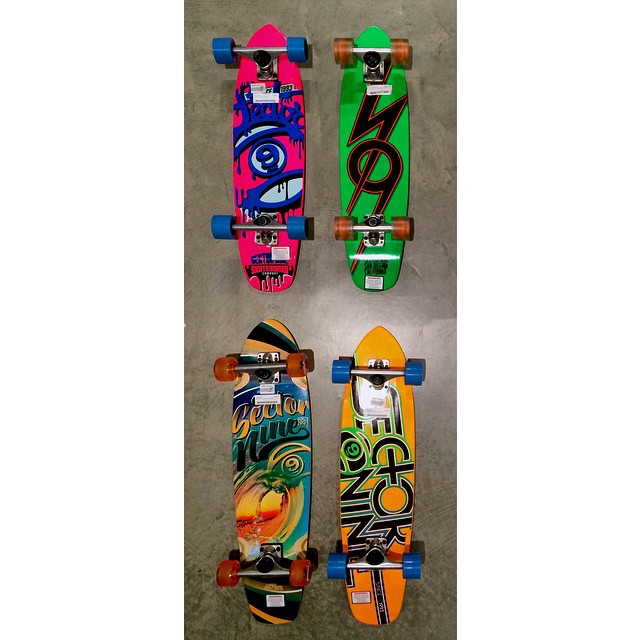 Take advantage of this January sunshine and go for a cruise this weekend. These @sector9 boards are awesome #CSTLwinter