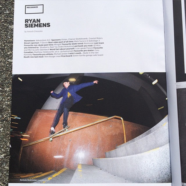 Real recognize real. @hoodisgood_ with a #recognize in the new @sbcskateboard_mag. Shot by @antoshcimoszko. Congrats #LittleRyan! Come get your copy now. @chanceskateboards @chancematt @etniesskateboarding @timebombtrading