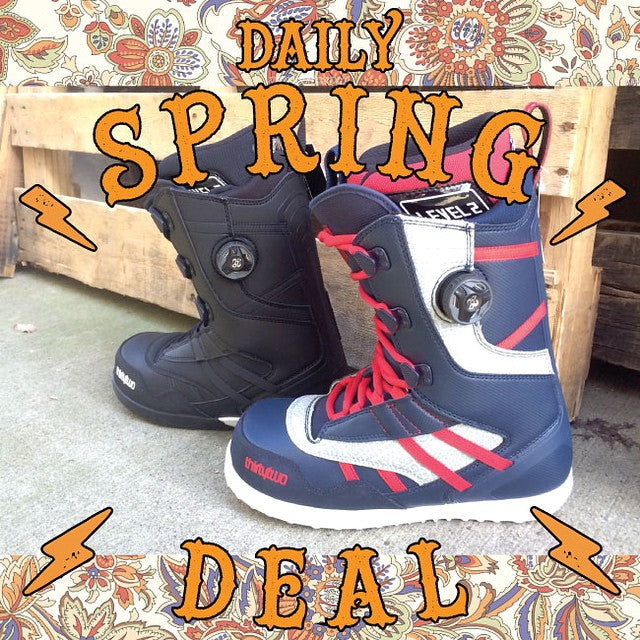 Today's #DailySpringDeal @thirtytwo SESSION boots. Reg: $320, today's sale: $159.99. #Breakout #BreakoutSale #CoastalRiders #CSTL #CSTLspring