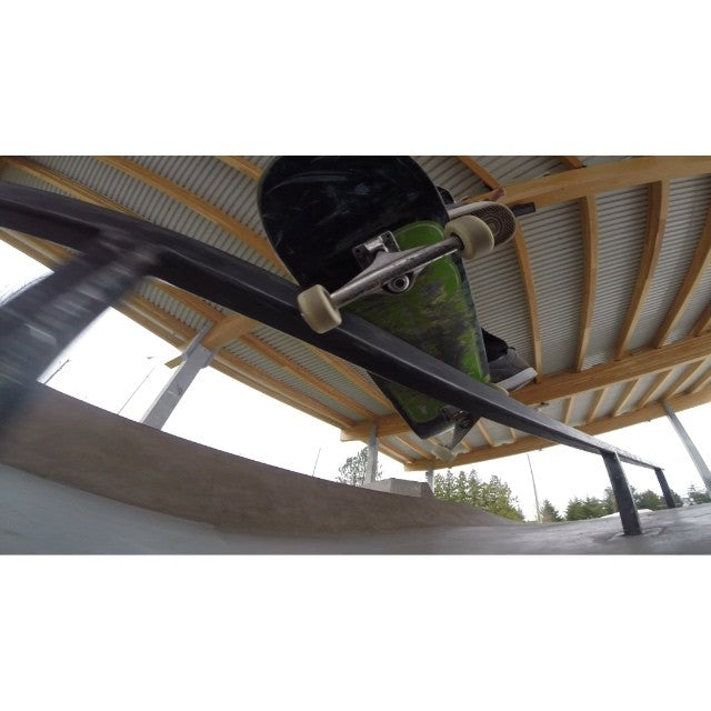 Rise and shine! Grab your #skateboard or come grab a freshie and go out and enjoy that sunshine! @brendannielsen15 with a line at Cloverdale Park filmed by @davidstevens #gopro #skateboarding