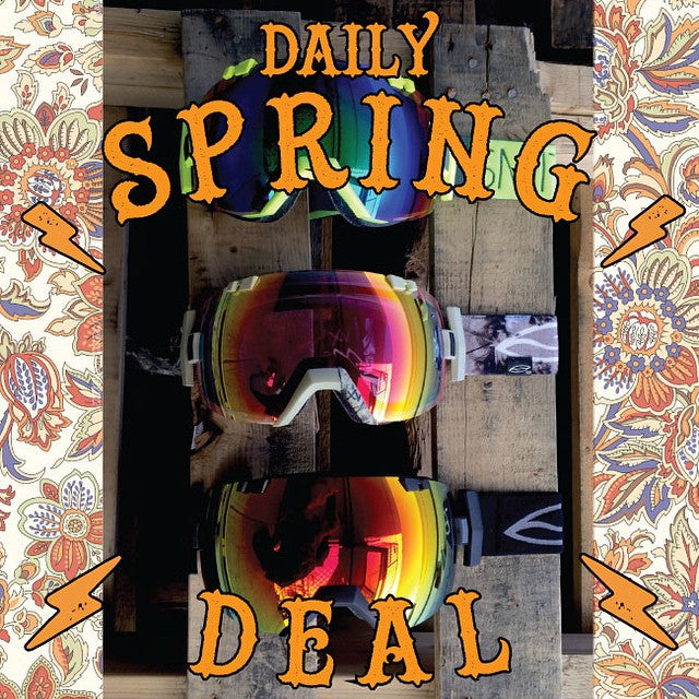 Today's #DailySpringDeal the SMITH I/O goggle. Regular $200 on sale for $99.99 - bonus lens included. #CoastalRiders #Coastal #CSTL #breakout #Springbreakout #CSTLspring