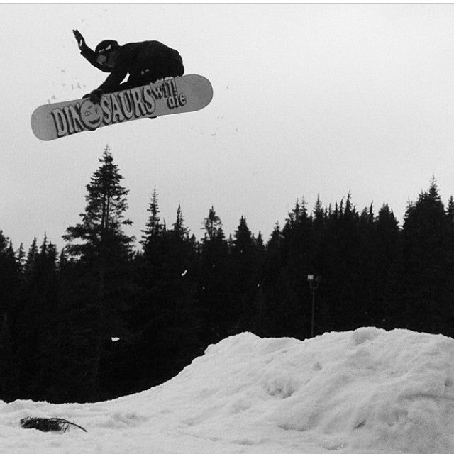 #MethodMonday with @runskatechill. Borrowed from @dinosaurs_will_die. #russlee @mtseymour last spring. #snowboarding #CoastalRiders #CSTL #DWD