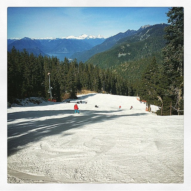 @cypressmtn and @grousemountain have been blowing snow and are open for limited operation. Thanks to @adamwoodall21 for this photo. #goshred #theseasonisnotdead #snowboarding #CSTL #CoastalRiders