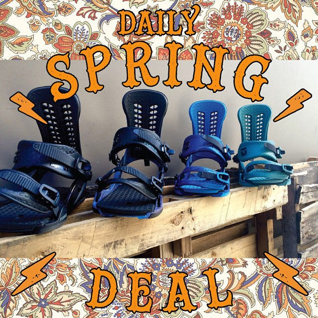 Today's spring daily deal is the top selling @unionbindingco Force! Reg: $280 and today only its $140! #DailySpringDeal #Breakout #BreakoutSale #CoastalRiders #CSTL #CSTLspring