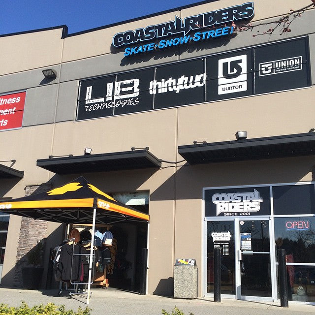 The sun is shining, the garage door is up and we have a tent popped with some sweet deals underneath. #CSTLspring #streetwear #deals #CoastalRiders ️️