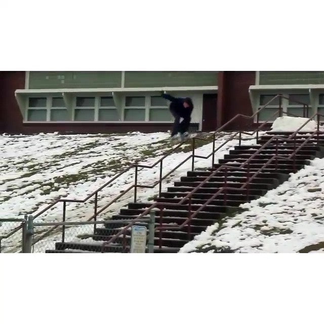 #regram from @yobeat and @jordanmackiebell. #CSTL team rider Jordan Bell gets a little kinky. #snowboarding #CoastalRiders