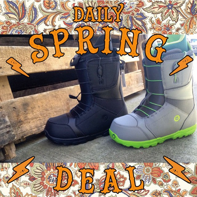 The #DailySpringDeal today is the @burtonsnowboards #Moto Boot! Today only regular $189.99 on sale for $94.99. Don't miss this great deal on some #KillerBoots man. #Burton #CoastalRiders #CSTL #CSTLspring