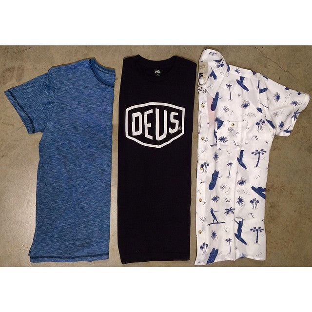 New Deus men's clothing hitting shelves this weekend! Go get some sun #CSTLspring #CSTL #Deus @deusemporium