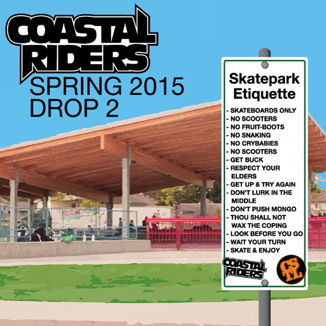 Our new Spring Shop Skate Product drops today. New decks, wheels and grip now in store. Check out the #SkateParkEtiquette board graphic featured here. #ObeyTheRules #clvdreport #CoastalRiders #CSTL #skateboarding
