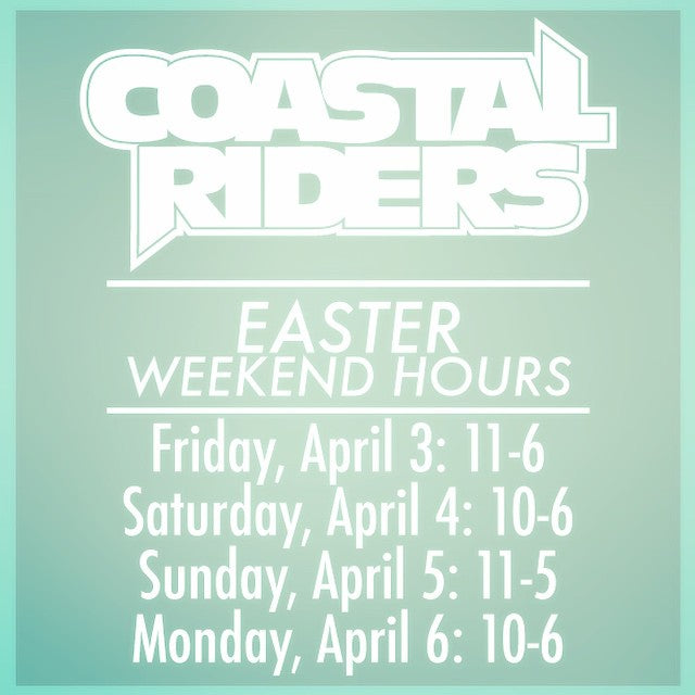 Happy easter. Come check us out all long weekend. #CoastalRiders #CSTLspring