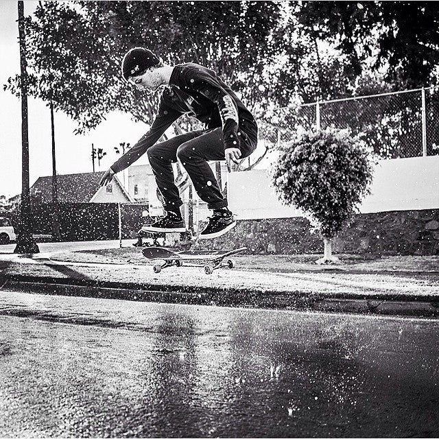 This photo of @fuckimsorry shot by @briancaissie is nothing short of #art. Michael Ray. Kick flip. #blackandwhite #skateboarding #CoastalRiders #CSTL