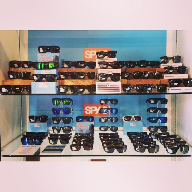 Our case is chocka-block full of new @spyoptic #sunglasses. Come get your fix. #spy #CoastalRiders #CSTL #sunnies ️️️