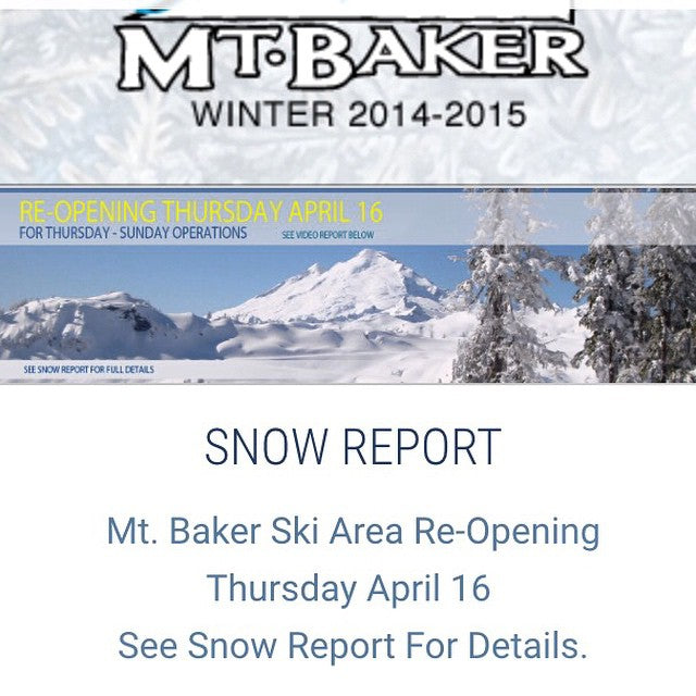 Props to @mtbakerskiarea for hanging on. They just announced a re-opening for thursday! Get some last turns in folks!