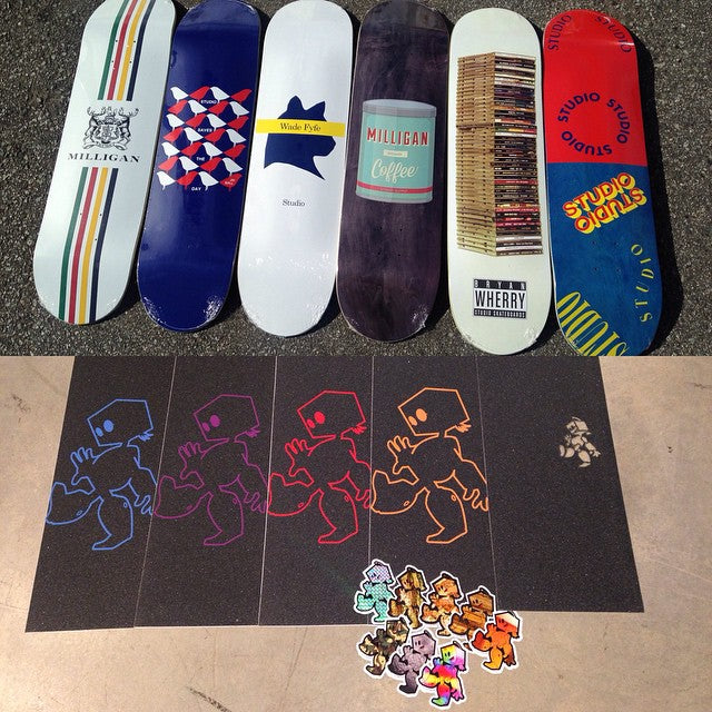 Just restocked on @filmbotgrip and also got our first order of @studioskateboards both now available. #SupportLocal #Studio #Filmbot #CSTL #CoastalRiders