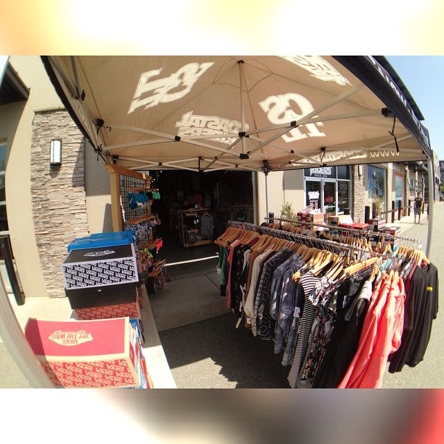 Another beautiful day in Langley, so the sale tent is out again. Come say hello and check out all the deals. #SupportLocal #CSTL #CoastalRiders #Spring #Sale #Hitcase