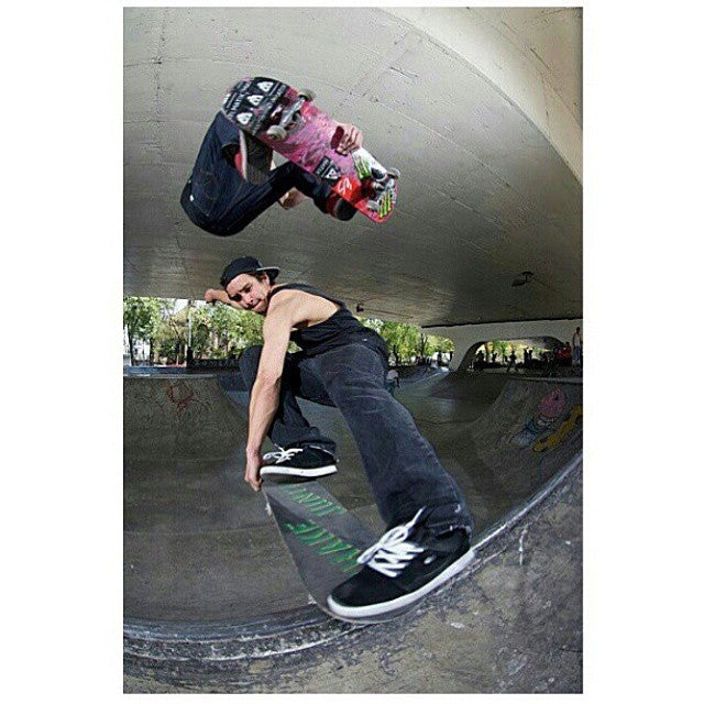 #tbt to @mattberger_ doing a frontside air over @hailskat1n with a crailslide in #MexicoCity. A big shoutout to Matt on turning pro for @flipskateboards! . Photo shot by @richodam. #Skateboarding #MikeSchulze #MattBerger #CoastalRiders #CSTL