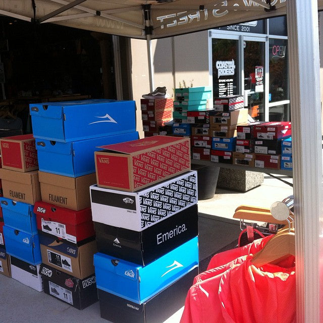 Looking for new kicks? The tent is packed with all the top brands. Which all happen to be 35% off. #coastalriders #CSTL #Spring #footwear #Sale