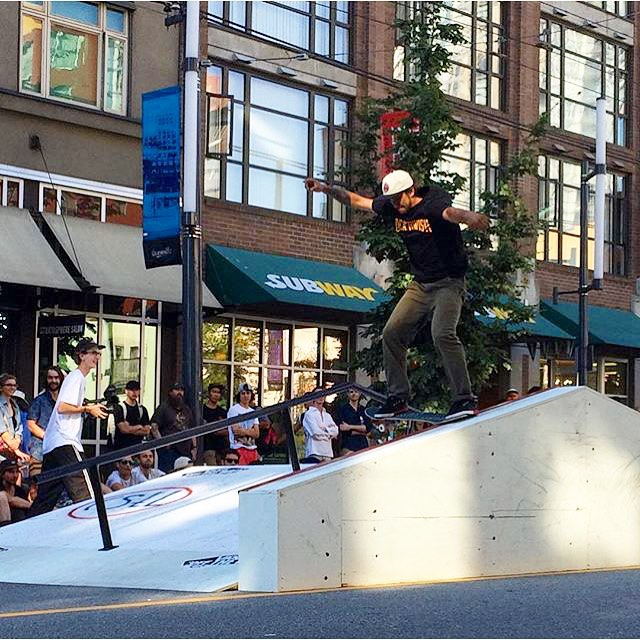 One more from yesterday at the #VansRoadBlock. @hailskat1n. #regram @getradwithskatelife #CoastalRiders #CSTL @vanscanada