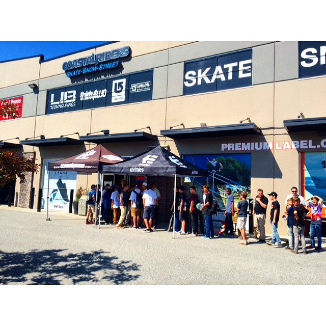 The line up is growing for the etnies signing at the shop. The @etniesskateboarding team will be here in about 30 mins. #etniesgoesnorthwest @timebombtrading #etnies #CoastalRiders #CSTL