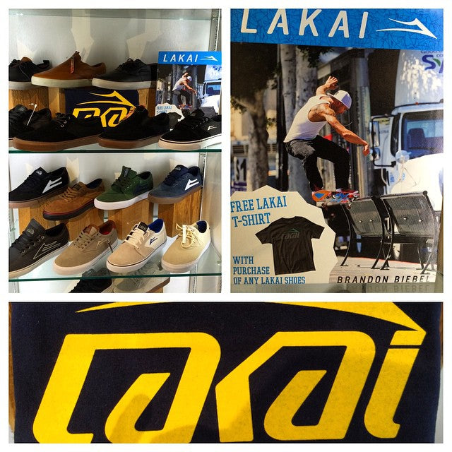 Get fresh for the weekend with a new pair of kicks. This month only buy a pair of @lakailtd shoes and get a free #Lakai Tshirt. #skaterowned #shoes #CSTL #CoastalRiders @supradist