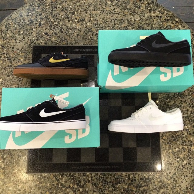 We just got four new colour ways of the @nikesb janoski's the all whites are perfect for the summer. #CSTL #CoastalRiders #NikeSb #Summer