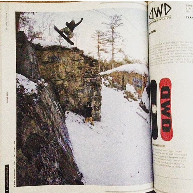 Team Rider @mattheneghan featured in @snowboardmag from last season on the east coast. @dinosaurs_will_die #WinterIsComing #CSTL #Snowboarding #GetStoked