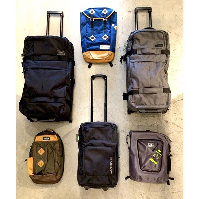 Lot of @dakine luggage and backpacks in stock if you're headed on a vacation anytime soon. #Dakine #CSTL #vacation #travel