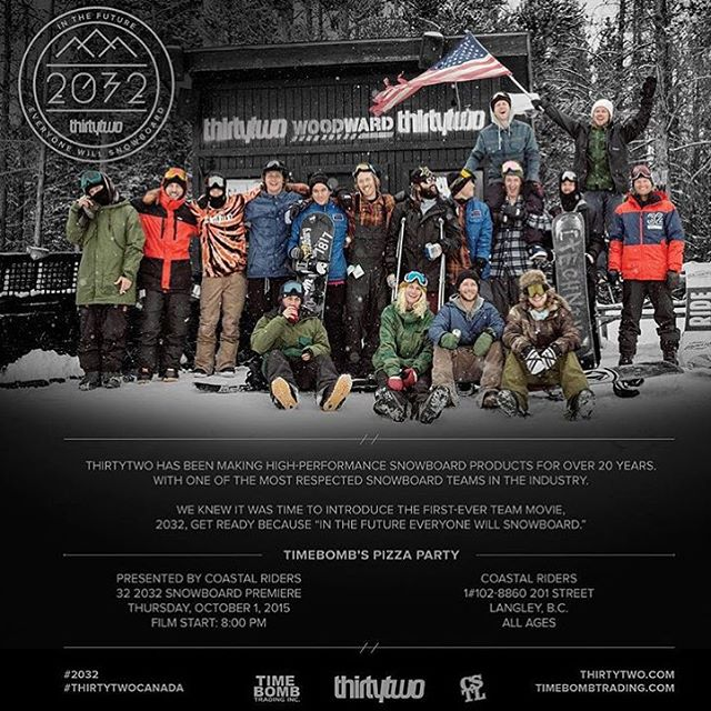 @thirtytwo #2032 movie premier and Pizza Party on October 1st in the store! Movie starts at 8pm, all ages. @timebombtrading
