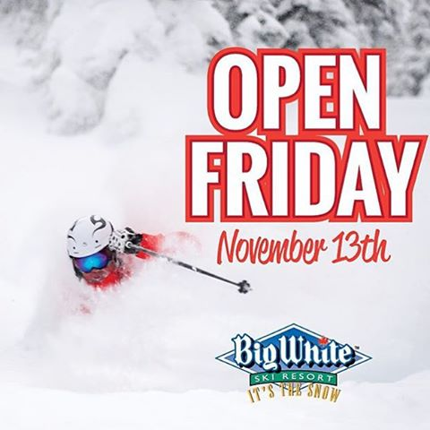 @skibigwhite just announced early opening for this weekend! Who's going? #BigWhite #Winter2016