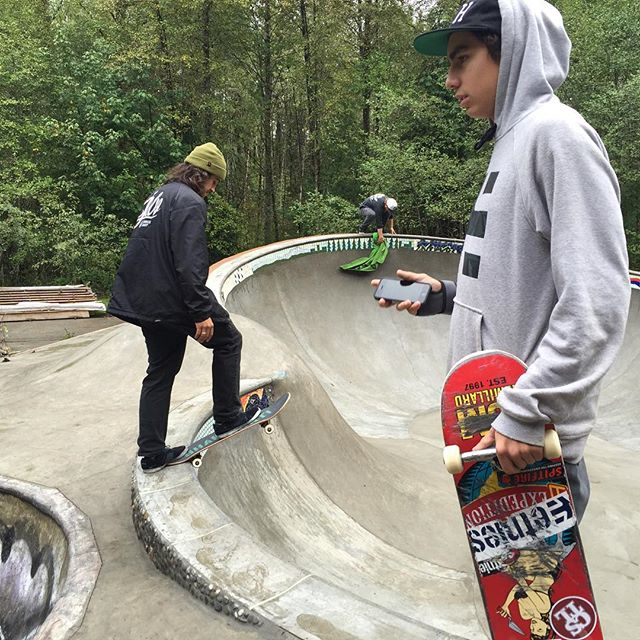 The boys had a good time on the skate team trip to Mt. Baker. @hoodisgood_ caught mallgrabing, @hailskat1n droping in and @reetdimmins drying off the park #CSTL #CoastalRiders #skateTeam #MtBaker #Skateboarding
