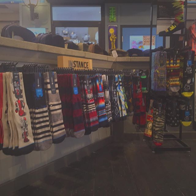 Lots of colourful @stancesocks in men's and women's, knee high and ankle available #Stance