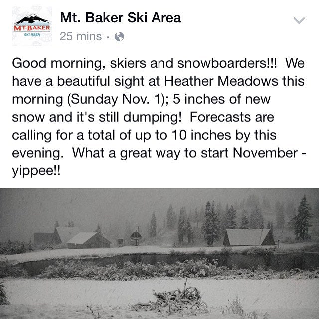 Snow at @mtbakerskiarea ! #WINTER16 #CoastalRiders #baker