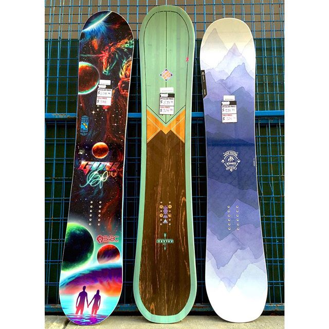 Ladies, looking to step up your game? Come in, save some cash and buy a 2015 board for 40% off! The @gnusnowboards b-nice is now $348, the @jonessnowboards twin sister is $324 and the @k2snow wow pow is $324 #coastalriders