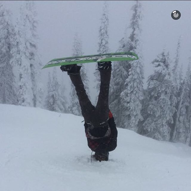 Snow team rider and shop employee @eyesaac killing it out in big white this weekend, follow coastal_riders on snapchat for more great shots like this one posted by @willsavy