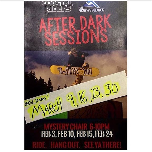 Catch us up @mtseymour tonight for our first park session of march!