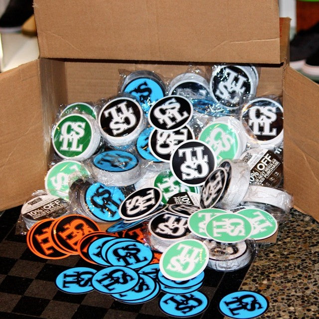 we just got a HUGE shipment of @coastalriders stickers in! drop by the shop and grab some #free