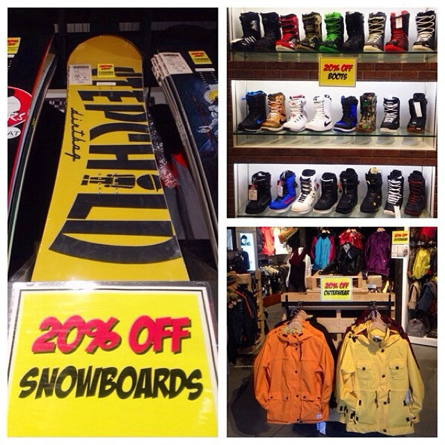 last day of @coastalriders boxing week sale. 20% off everything snow. hurry up and grab a 2014 @stepchildsnowboards dirtbag shopfavorite lastday