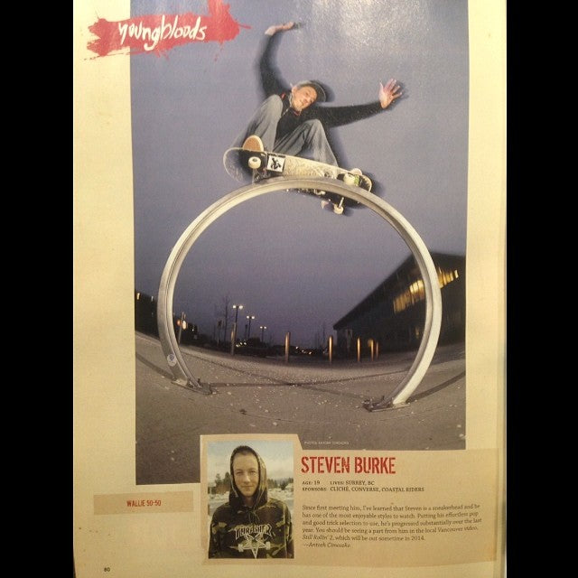 coastal team rider @sbeeezy is featured in new @concreteskatemag. swing by the shop and grab a copy free. youngblood supportlocal