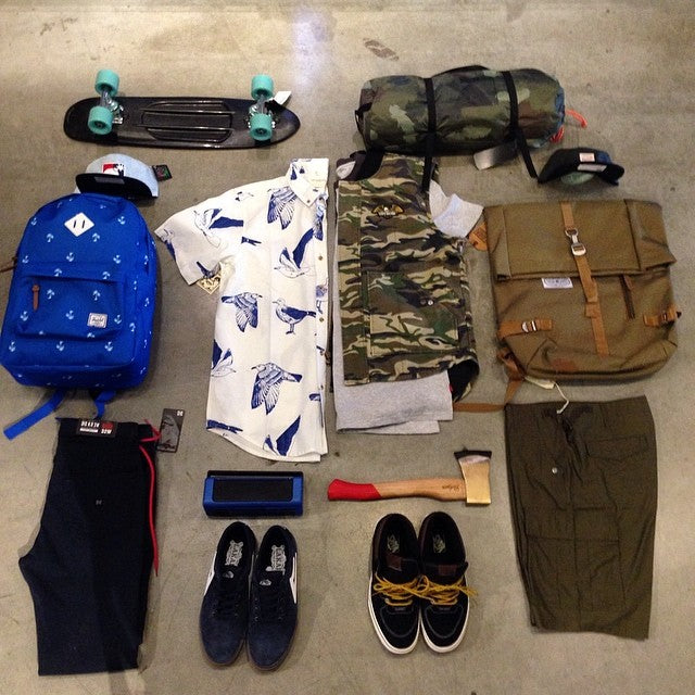you ready for spring? new product from @obeygiant @polerstuff @nickydiamonds @vans @kr3wdenim @herschelsupply @losermachine @lakailtd launching this week. come in and get geared up! springcamping wellpacked