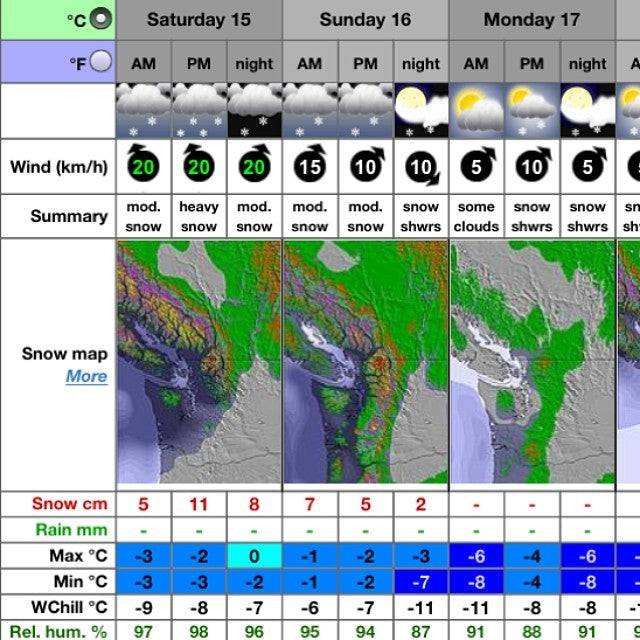winters still going strong up @whistlerblackcomb! up to 38cm of fresh snow coming for this Sunday. getoutthere