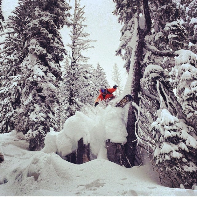 Get out there and find some pow even if you have to drive a bit to look for it. @keenanjeff drove the powderhighway and got deep... Real deep. snowboardbc whitewater